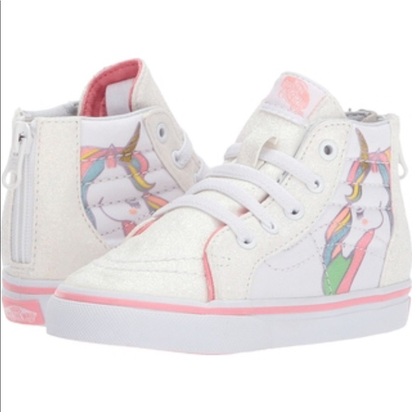 Vans toddler Sk8-hi zip rainbow glitter shoes NIB f3f22a2c6
